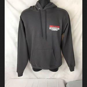 Hanes(Alva Roofing Company)hoodie Gray Medium